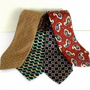 Burberry Fendi Brooks Brothers Silk Necktie Bundle